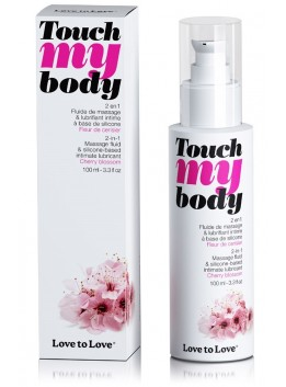 Massage + Lubrifiant Touch My Body Fleur de Cerisier - 100 ml