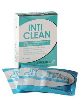 IntiClean Lingettes Nettoyantes pour Parties Intimes - 6 X 2,5 ml
