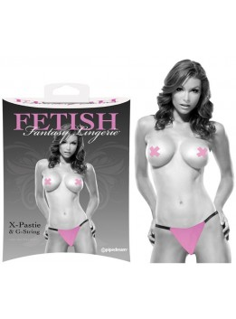 String et Pasties rose Fetish Fantasy S-M