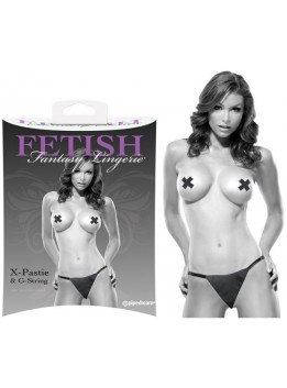 String et Pasties noir Fetish Fantasy L-XL