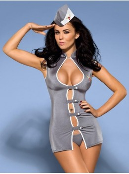 Tenue Stewardess Hotesse de l'air Obsessive - L-XL
