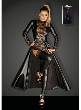 Long Manteau Powerwetlook Divalicious F128C - XXL